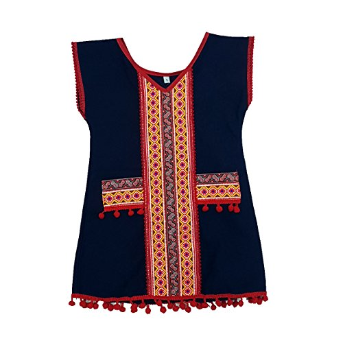 ARTIIDCO Beautiful Woven Cotton Ethnic Hmong Girl Dress with Embroidered Details 2 to 3 Year ()