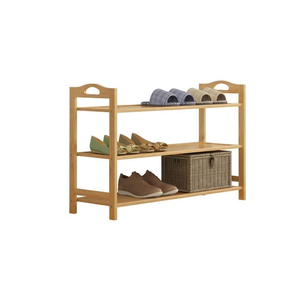 SCDXJ Bamboo Wood Shoe Rack 3-Tier Pairs Entryway Shoe Shelf Storage Organizer by SCDXJ