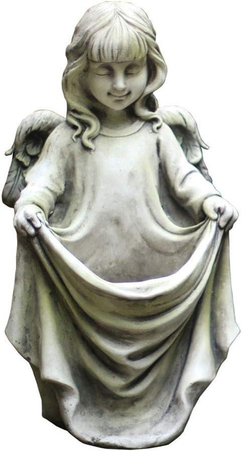 LIUSHI Cherubs Garden Sculpture,Vintage Resin Angel Statue,Elegant Figurine Home Decor for Yard Patio,Garden Q 25x24x45cm(10x9x18inch)