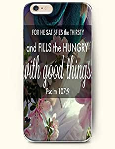 Case For Ipod Touch 4 Cover Case,OOFIT Case For Ipod Touch 4 Cover Hard Case **NEW** Case with the Design of for he satisfies the thirsty and fills the hungry with good things psalm 17Case For Ipod Touch 4 Cover (2014) Verizon, AT&T Sprint, T-mobile