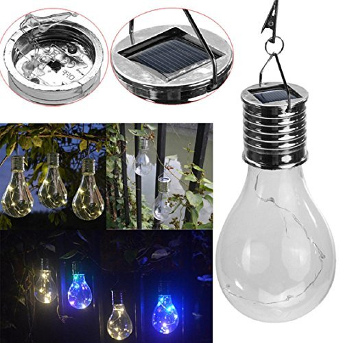 Waterproof Solar Rotatable Outdoor Garden Camping Hanging LED Light Lamp Bulb Mchoice