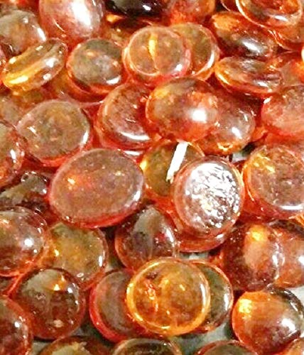 Soothing Ideas 100 Dark Orange Glass Pebbles Stones 20mm Home And