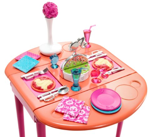 Incredible Barbie Dinner To Dessert Dining Room Set Download Free Architecture Designs Itiscsunscenecom
