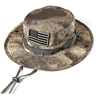 massmall Military Tactical Head Wear/Boonie Hat Cap with USA Patch for Wargame,Sports,Fishing &Outdoor Activties ACU Camouflage