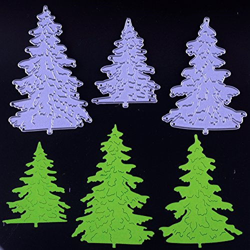 Eswala Dies Cut Cutting Die for Cards Making Christmas Trees Metal Embossing Stencils for DIY Craft Scrapbooking Photo Album Decorative Paper Gift (Dies 31 Trees)
