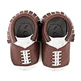 Product review for Football Design Team Colors Moccasin Size 0 0-3 Month 100% American leather moccasins for babies & toddlers Made in US