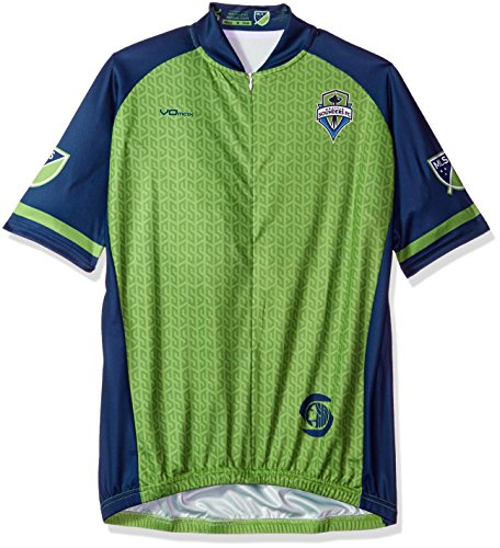 MLS Seattle Sounders FC Men's Primary Short Sleeve Cycling Jersey, Small, Green