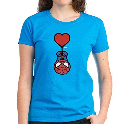 CafePress Spider-Man Heart - Womens Cotton T-Shirt