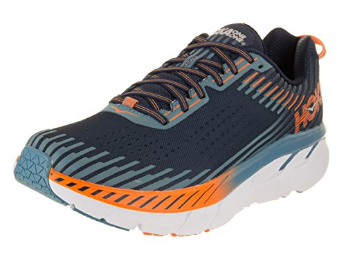 5 Hoka Blue Textile Hombre Synthetic One One Storm Iris Entrenadores Clifton Black qrrRIx
