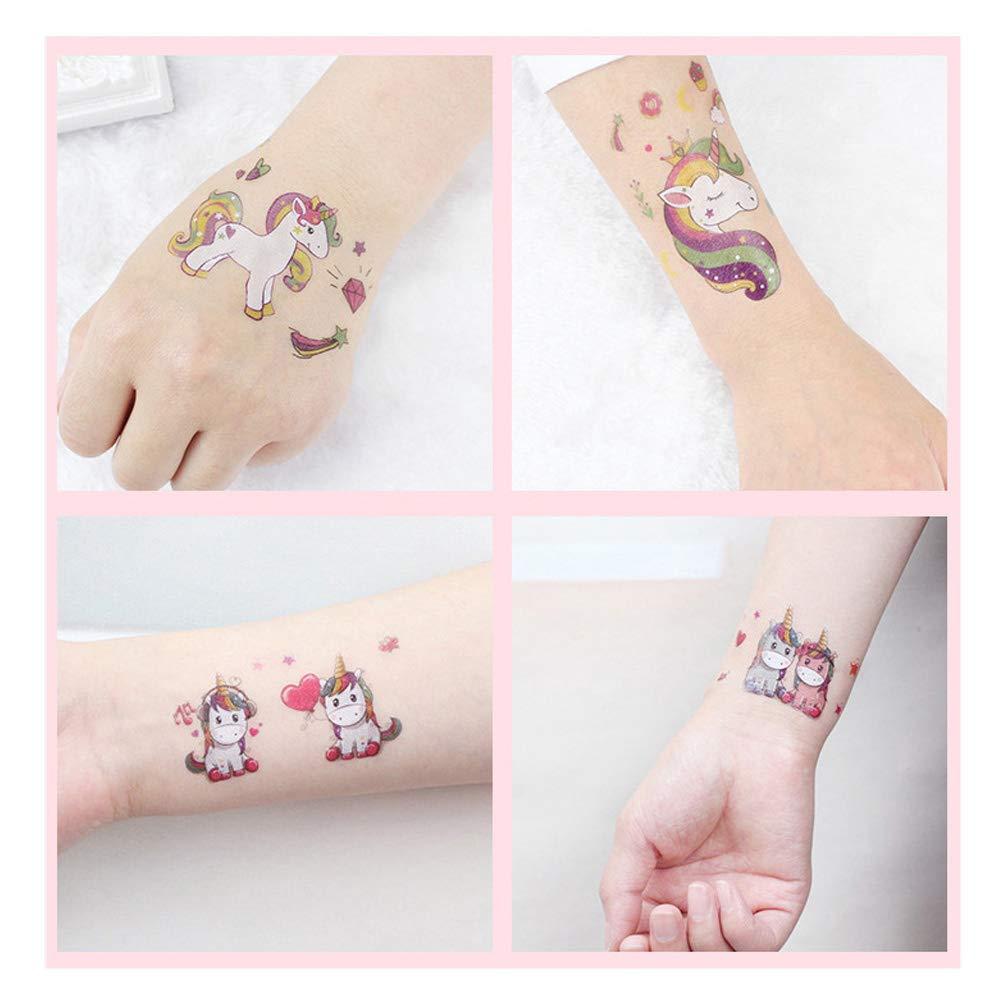 Jcsdhly 15 Sheets Unicornio Temporal Tatuajes para Niños ...