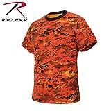Rothco T-Shirt, Digital Orange Camo, 3X