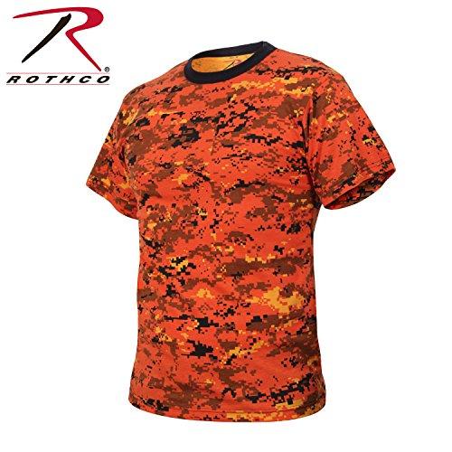 Go Commando Camo - Rothco T-Shirt, Digital Orange Camo, 3X