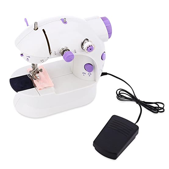 Amazon.com: RoyalTop 202 Mini Sewing Machine Double Speed Automatic Thread with Light