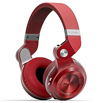 Bluedio T2 Plus Turbine Wireless Bluetooth Headphones With Micmicro Sd Card Slotfm Radio (Red) 1