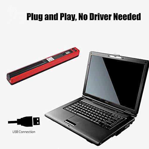 Ingerik Scanner Portable Document Image Handheld Scanner USB Mobile Scanner for Office Home Travel by Ingerik (Image #3)