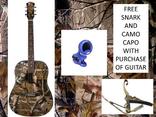 INDIANA Acoustic-Guitar-Mossy Oak Infinity Camouflage*(FREE CAMO CAPO AND TUNER)*