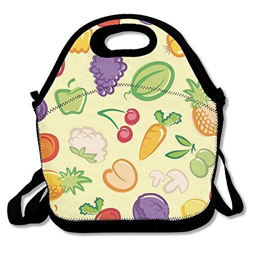Vegetables Fruit Salad Bowl Multifunctional Lunch Tote Bag Carry -