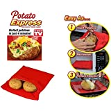 Jacket Potato Pack of 2 Express Microwave Bag Machine Washable Reusable Cook New