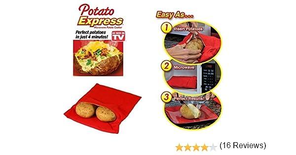 Lote de 2 bolsas para cocinar patatas aptas para microondas, se ...