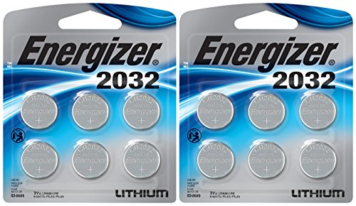 Energizer 2032BP-4 3 Volt Lithium Coin Battery - Retail Packaging (Pack of 12) ()