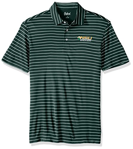 Norfolk State Spartans Green - Oxford NCAA Norfolk State Spartans Men's Turner Classic Stripe Polo Shirt, Medium, Hunter