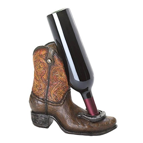 Lucky Cowboy Boot Wine Bottle Holder by Accent - Boot Cowboy Wine