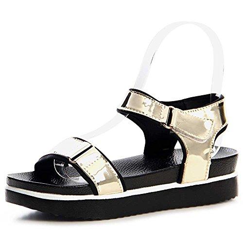 topschuhe24 - Sandalias de vestir para mujer dorado