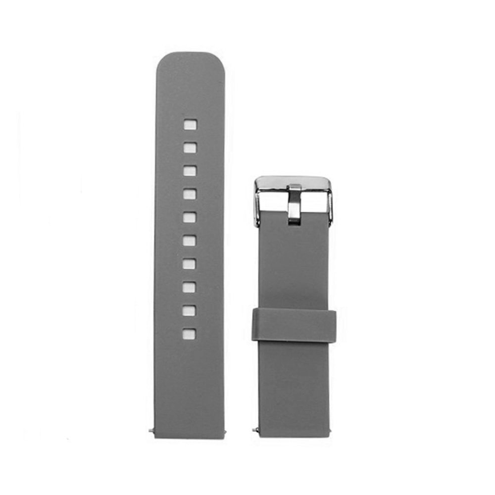 TenCloud Pebble Time Steel/Pebble 2 + / Pebble 2 SE Smartwatch Replacement Watch Band Silicone 22mm Strap Quick Release Gray