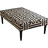Surya FL1011-523218 Ottoman, 52 by 32 by 18-Inch, Olive/Navy