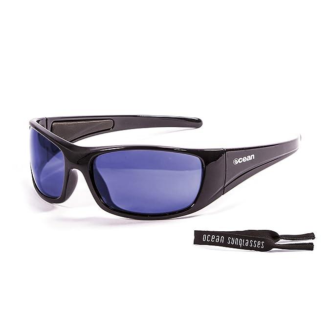 Ocean Sunglasses - Bermuda - lunettes de soleil polarisées - Monture : Noir Laqué - Verres : Revo Bleu (3401.1) joN4SBOS