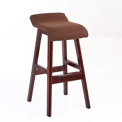 Stupendous Amazon Com W Bar Stool Solid Wood Bar Chair High Chair Bar Unemploymentrelief Wooden Chair Designs For Living Room Unemploymentrelieforg