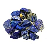 "Crystal Allies Materials: 1lb Bulk Rough Lapis Lazuli Stones from Afghanistan - Large 1""+ Raw Natural Crystals for Cabbing, Cutting, Lapidary, Tumbling, and Polishing & Reiki Crystal HealingWholesale Lot"