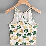 IEason Women Blouse Women Pineapple Print Tank Top Summer Sexy Short Halter Top (L, Yellow)