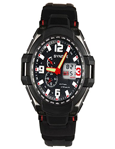 SYNOKE Waterproof Men's LED Digital Quartz Sports Watch (Red) - 2