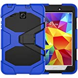 zagg power cord - Samsung Galaxy Tab E 8.0 inch Case with Screen Protector, Jeccy 3in1 Full-body Shock Proof Hybrid Heavy Duty Armor Defender Protective Case, Silicone Plastic Case for Samsung Tab E 8 (SM-T377 / T375)
