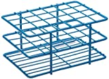"Bel-Art F18788-1601 Poxygrid ""Half-Size"" Test Tube Rack; 15-16mm, 24 Places, 4¹⁵/₁₆ x 3⁵/₈ x 2¹/₂ in., Blue"