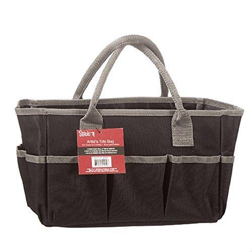 Darice Studio 71 Art Tote Bag: Black, 12 x 7.5 inches ()