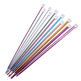 Image of Valar Dohaeris Crochet Hooks 11 Pack Diverse Size Assorted Color Tunisian Afghan Aluminum Knitting Needles Set (2mm to 8mm)