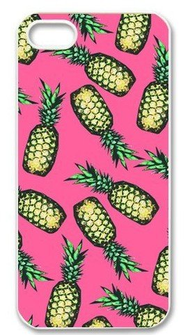 Shinhwa Create Funny Pineapple Pattern Pink Custom Hard Case for iPhone 5 or 5S -
