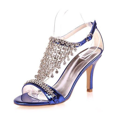 L@YC Damen Hochzeit Schuhe / Peep Toes / Plattform / High Heels Hochzeit Abend 9920-07A Blue