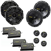 Kicker CS speaker package - Two pairs of Kicker CS Series 6-3/4 Inch Component Speakers 40CSS674