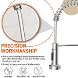 OWOFAN Kitchen Faucets Low Lead Commercial Solid