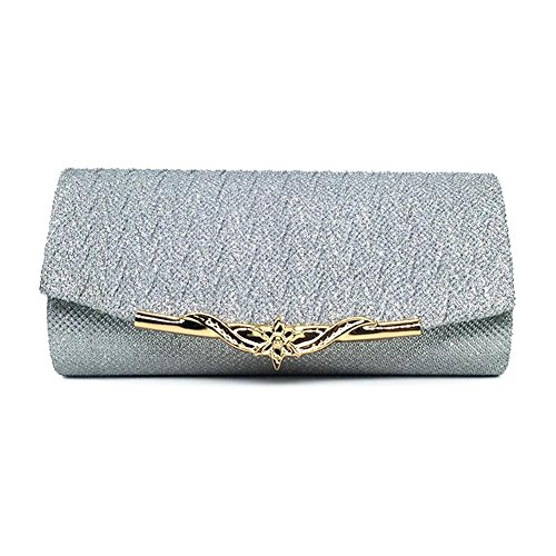 Wedding Bag Crossbody Handbag Silver Frosted Handbag Bag Purse Clutch Clutch Envelope Evening pxwEZSq6Z