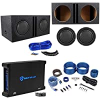 (2) Polk Audio DB1242SVC 12 2220w Subwoofers+Vented Box+Mono Amplifier+Amp Kit