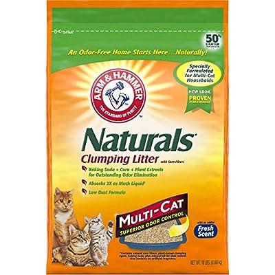 Cat Litter ARM & HAMMER Naturals Cat Litter, Multi Cat, 18lb [tag]