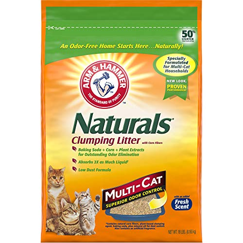 ARM & HAMMER Naturals Cat Litter, Multi Cat, 18lb ()