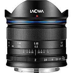 Laowa 7.5-mm ultra-macro, wide-angle, rectilinear lens with maximum f/2 aperture, black, for Micro 4/3-type cameras.