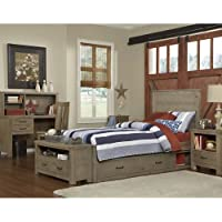 NE Kids Highlands Alex Twin Panel Storage Bed in Driftwood
