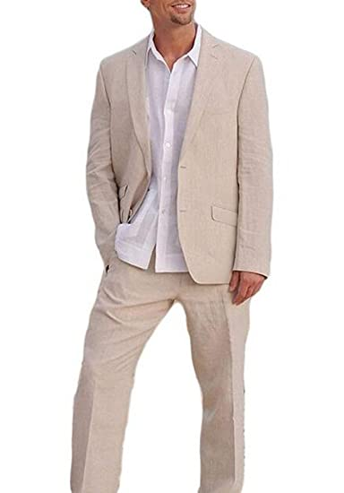 TOPG Ivory Summer Beach Wedding Suits 2 Pieces Men Suits ...