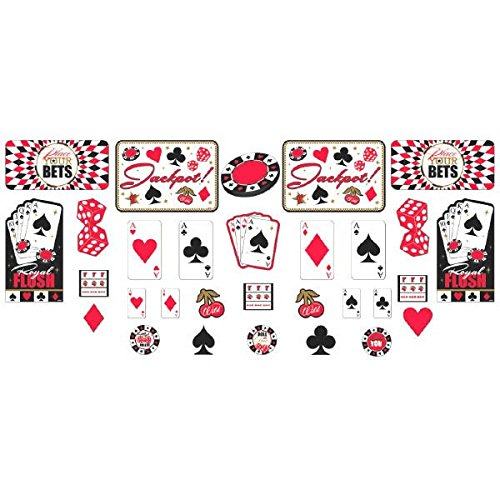 Amscan Assorted Casino Cutout Party Decoration, 30 Pieces, Made from Paper, Multicolor, 16 Pieces - 5
